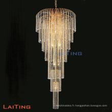 Lustre d'intérieur de lustre en cristal d'or d'hôtel de luxe 92106