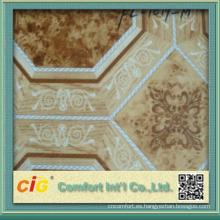 Fabricante de suelo de chapa de vinilo de diseño de impresión clásica en China