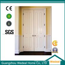 Белая сталь, грунтованная грунтовкой из МДФ / ХДФ, деревянная защитная дверь (WHB04)