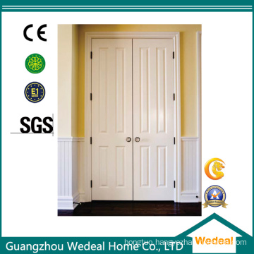 White Steel Primed MDF/HDF Wooden Security Door (WHB04)