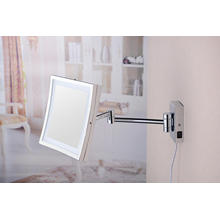 2015 nuevo cuadrado plegable Ajustable pared LED espejo de baño