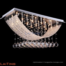 LED moderne baccarat verre cristal pendentif lampe lumière 92015