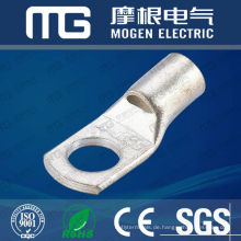 High conductive ring type tined copper cable terminals opening mouth