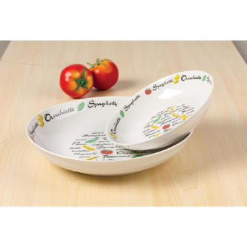 Porcelany decal zupa talerz 20cm salaterki