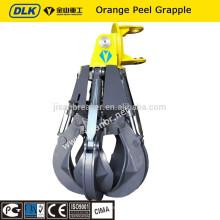 grappin de ferraille de pelle / grappin mécanique / hydraulique grappin de peau d'orange rotatif