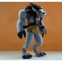 Wow Warcraft Plush Stuffed Hand Made Crohet Knitted Doll Toy