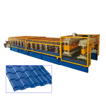 Automatic glazed metal roof tile roll forming machine