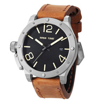 brand dropship leather mens watch
