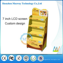 point of sale cardboard display with 7 inch lcd screen