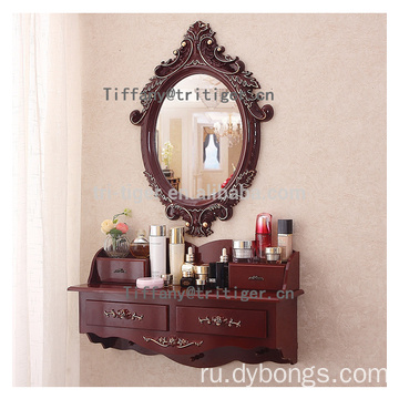 Over the wall White color glass make up dresser modern dresser