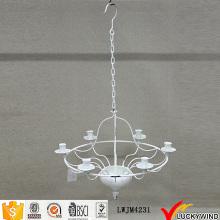Потолочный подвесной белый винтажный подсвечник для люстр