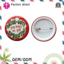Custom Logo Tin Button Badge for Wedding Gift