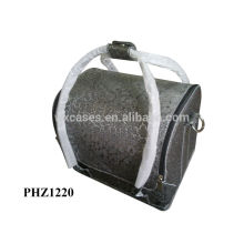 hot sell leather cosmetic bag with 4 removable trays inside good quality