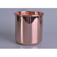 Luxury Rose Gold Metal Jar