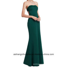 Bridesmaid Dress Women′s Formal Evening Straps Evening Gowns with Lace