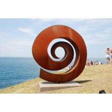 Kunstskulptur im Freien Themenpark Garten Corten Stahlskulptur