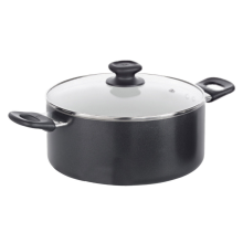 Aluminum Low Casserole With Glass Lid