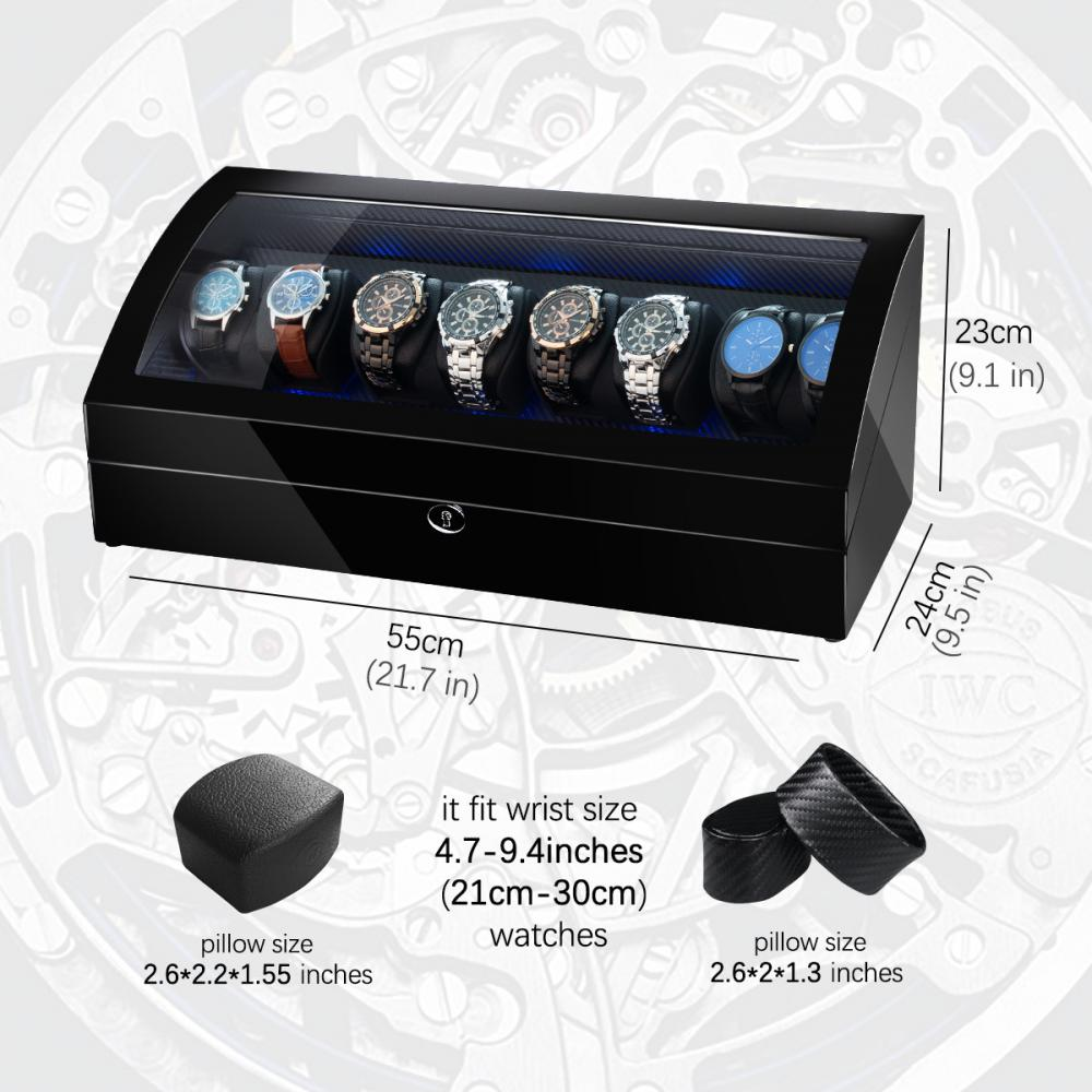 Ww 8224 Ebony Quad Rotors Watch Winder Details