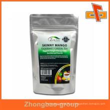 China fábrica de prova de umidade atacado grade alimentar impresso zipper top sacos de folha impresso personalizado