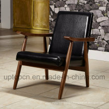 Wholesale Black Wooden Restaurant Furniture Chair with Armrest (SP-EC866)