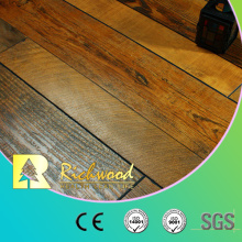 Piso laminado de madera raspada mano del arce del vinilo de 12.3mm