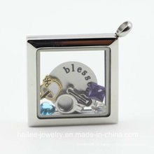 Novo Design em aço inoxidável moda jóias Locket Pingente