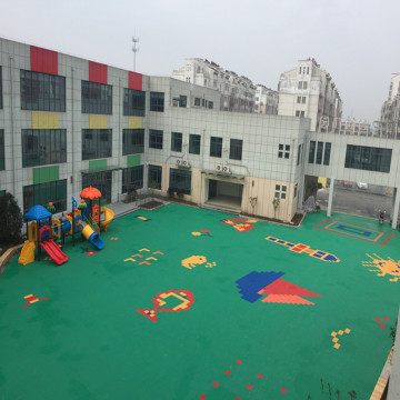 Arena Bermain Anak-anak PP Court Tiles Sports Flooring