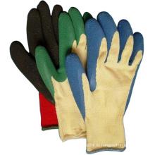 Knited Cotton Latex beschichtete Handschuhe Safety Farm Work Handschuh