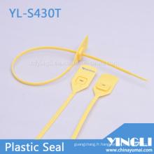 Tirez les joints de sécurité en plastique serrés avec verrouillage en métal