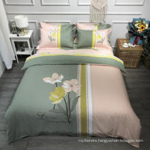 Luxurious Modern Design Bedding Set Cotton Brushed Fabric Comfortable for Double Bed Bedsheet