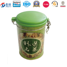 Classical Style Green Tea Box, Square Tinplate Can for Yummy Tea Jy-Wd-2015120209