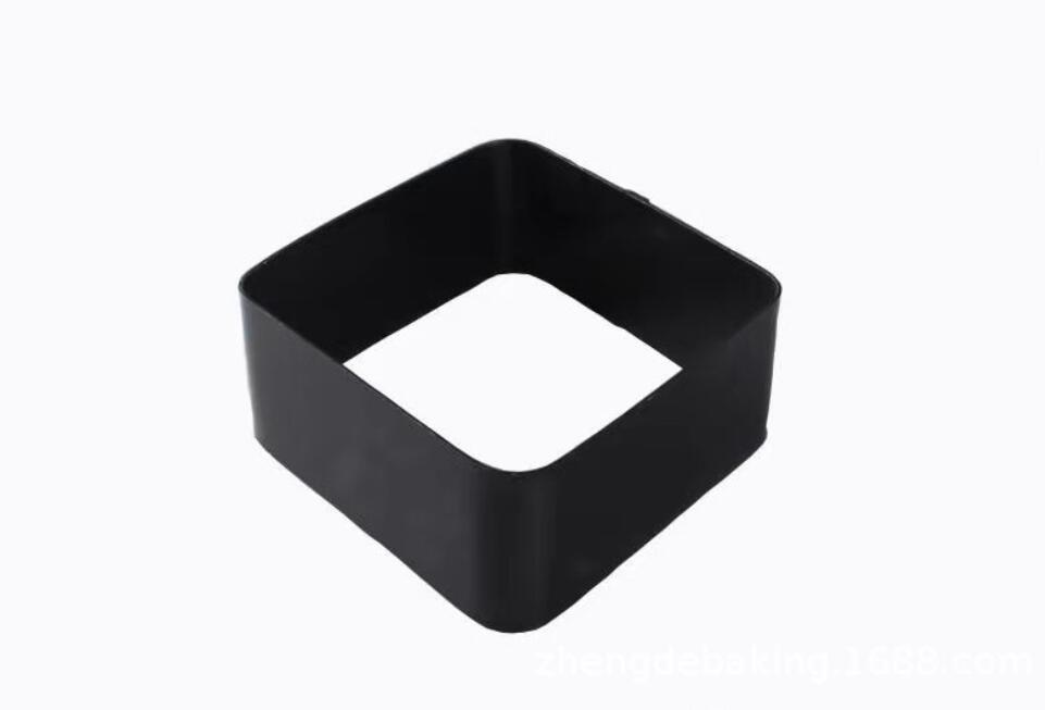 Black Mousse Ring Carbon Steel Cake Mold (17)