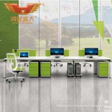 Green&White Office Wooden Desk Panel Workstation Furniture (H50-0207)