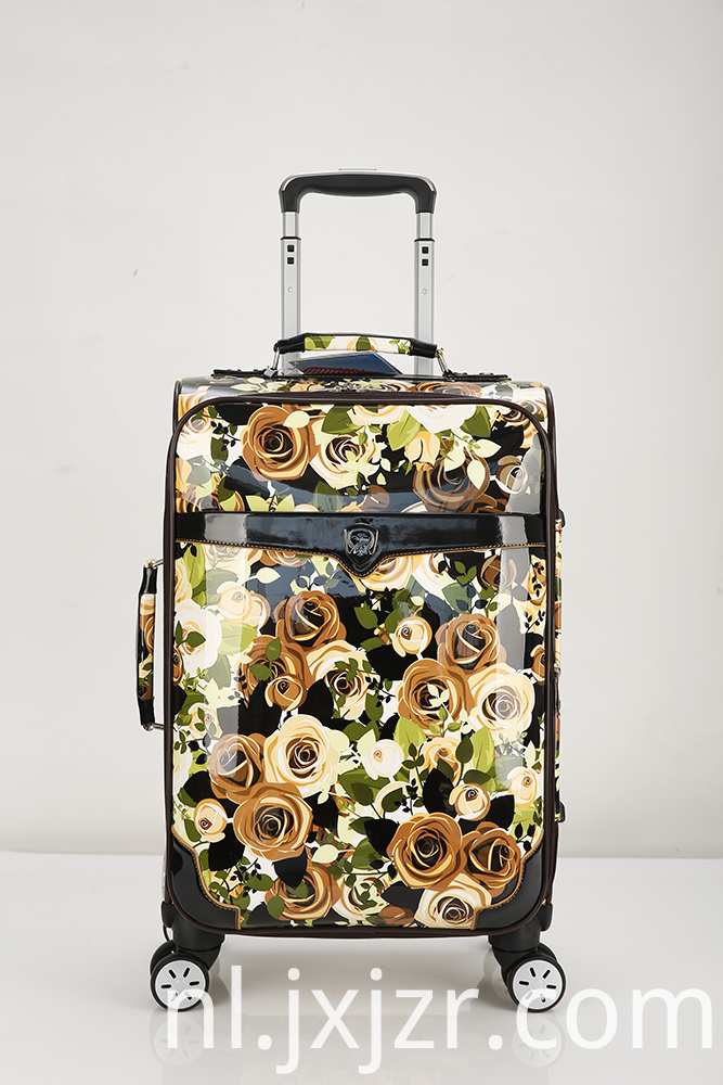 Super Mute Pattern Pu Luggage Case