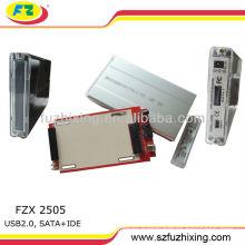 hdd case hard drive disk hdd box USB 2.0 2.5 inch SATA IDE HDD Enclosure with BIG PCB hdd caddy