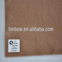 100% algodão tecido de veludo de qualidade fina