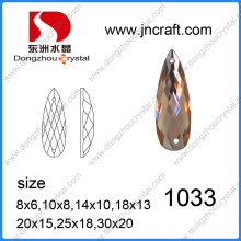 Colorful Flat Back Decorative Drop Glass Beads for Garment From China Supplier