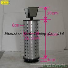 Prateleira de exposição dos vidros da rotação da placa modelo aluminosa, exposição do contador dos vidros (B & C-B043)