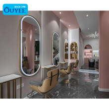 Women Beauty Center Mirror Station Beauty Bar Furniture Hair Salon Design Nail Salon Equipment