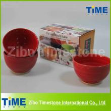 Set von 4 Keramik handgemalte Schüssel