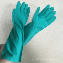 NMSAFETY long hand gloves 35cm,14'' chemical en388
