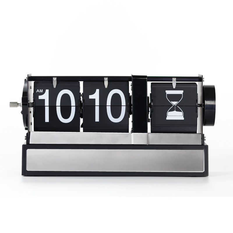 Auto Flip Clock With Hourglass