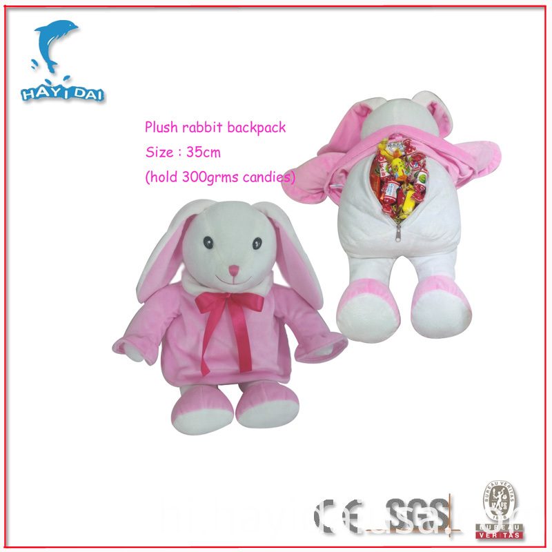 Plush Rabbit backpack candie bag