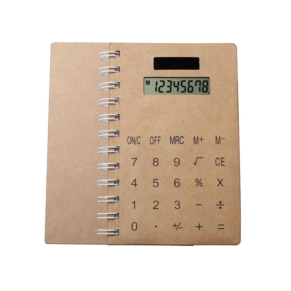 8 Digit Solar Power Coil Notebook Calculator