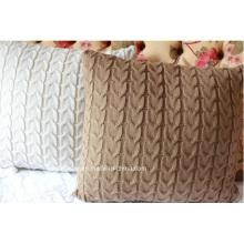 Taie d'oreiller housse de coussin en tricot acrylique (C14105)