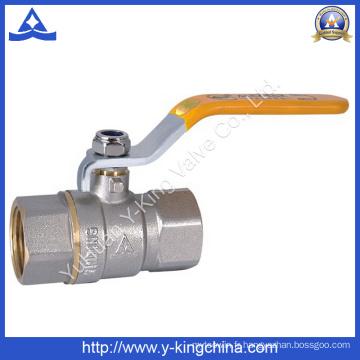 Vanne à bille en laiton en laiton forgé (YD-1021)