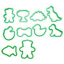 conjunto de cortador de biscoitos de animais de plástico