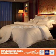 100% cotton stripe satin twin size flat hotel bedding sets