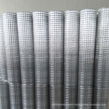 High quality 1x1 inch galvanized square welded wire mesh
