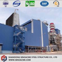 Centrale électrique en acier lourd avec structure à cadre élevé